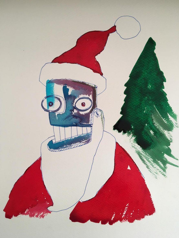 Pop Art Navideña solidaria en favor de la ONG Kubuka…»Querido Santa…»
